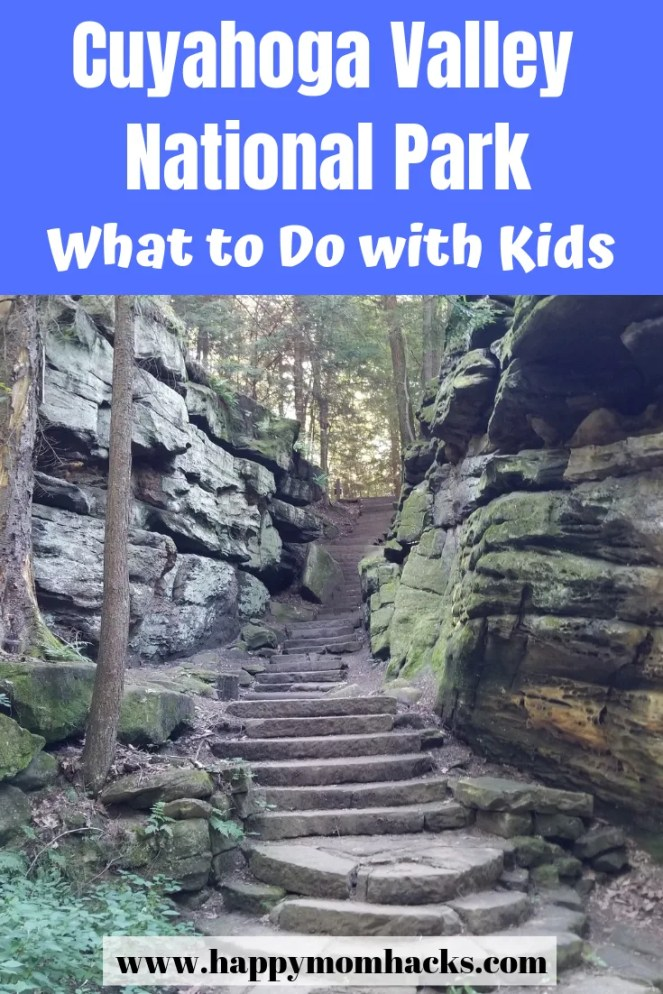 Best spots with kids in Cuyahoga Valley National Park. Find hiking trail ideas with kids and beautiful waterfalls to visit. This travel guide tells you the best things to do with kids, where to find a map and park information plus family travel tips for visiting the national park.  Everything you need to know before you go! #cuyahogavalleynationalpark, #nationalpark, #familytravel, #travelwithkids