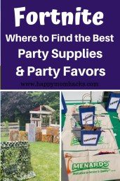 11 Fortnite Party Supplies for you next Fortnite Birthday Party. All the supplies and ideas you need to throw a great party. Find DIY Bases, party invitations, games, and party favors. Be prepared for the this fun Fortnite Themed party. #fortnite, #birthdayparty #birthdaytheme, #kidbirthday #birthdayideas