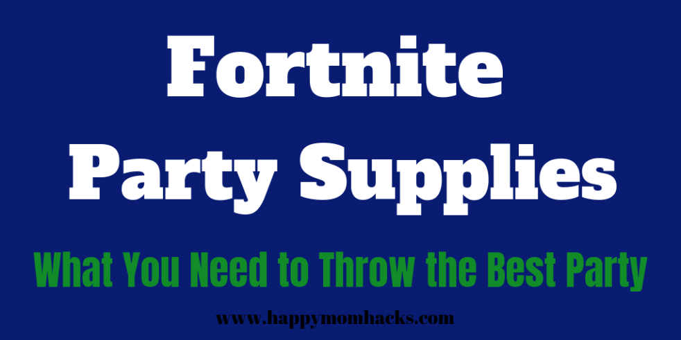 Fortnite Party Supplies for Birthday Parties. Everything you need to throw a great party.