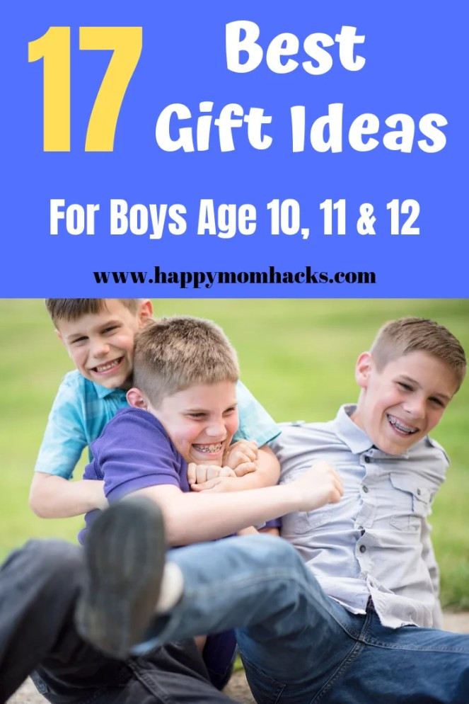 Best Gift Ideas for Boys age 10, 11, & 12. Fun Christmas and Birthday Gift ideas. Great presents for birthday party gifts. Click to find a gift your son will love! #giftidea, #birthdayparty, #christmasgift, #kidsgifts