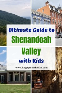 Ultimate Guide to Shenandoah Valley Virginia. Perfect vacation with kids. Visit Shenandoah National Park, museums and Luray Caverns. Plus check out Winchester and Staunton VA two cute small town with lots to do. Take a drive on the Blue Ridge Parkway on Skyline Drive. Plan your perfect family vacation. #travelwithkids #familytravel #nationalparks #traveltips