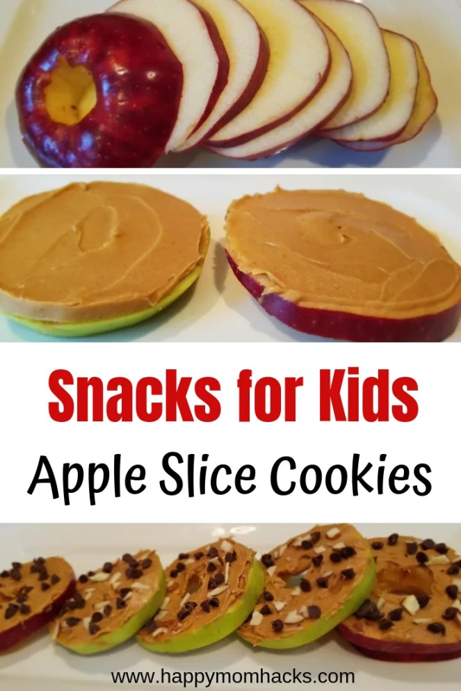 Apple Slice Cookies An Easy & Healthy Snack for Kids. Apple slice cookies are fun to make and can be adjusted to your families taste. Whip these up for after school snacks or late night snacks after games & activities. They would even be great snacks for a kids party. Kids will love them and you'll feel good feeding it to them. #snacks #kidsnacks #apple #healthysnack