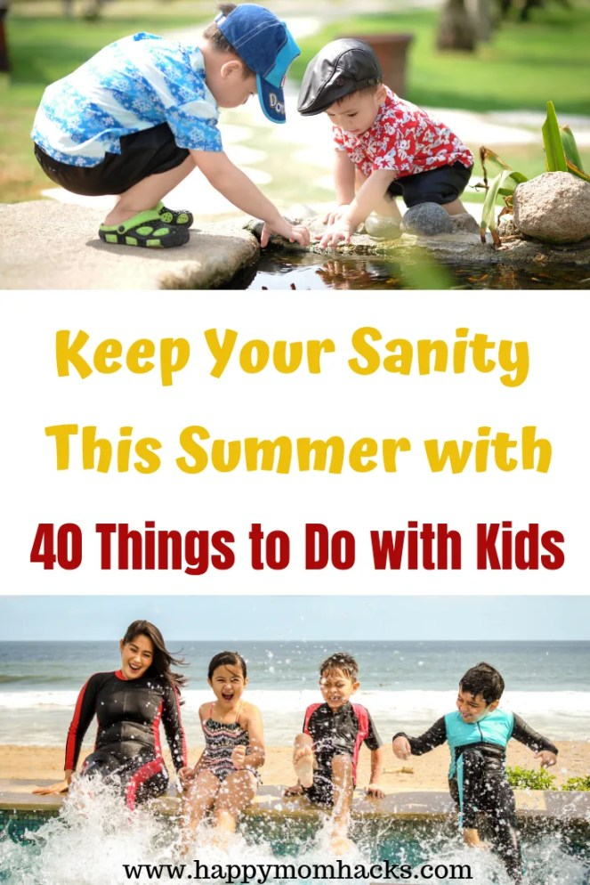 40 Things to Do with Kids this Summer at home on Staycation. Fun Staycation ideas and activities the whole family will love. Great for rainy days too! Check it out! #activitieswithkids #kids #staycation #thingstodo