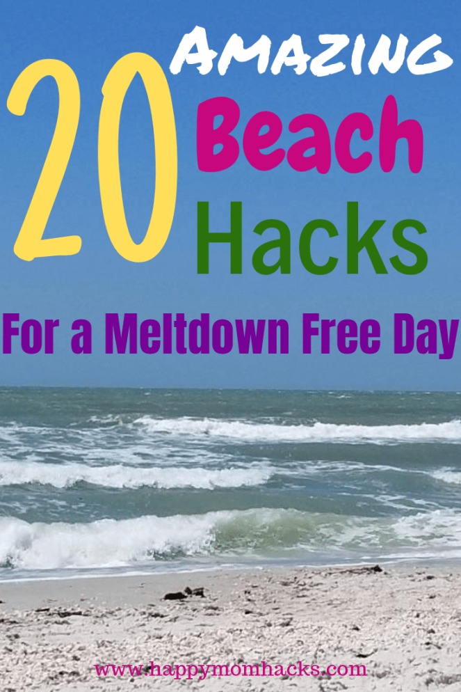 Ultimate Beach Hacks and Beach Tips & Tricks for Kids. Easy & unique ways to keep everyone happy and meltdown free. Plus everything you need to pack for your beach day. Have great family memories with a perfect day out at the beach.  #beachhacks #beachtips #traveltips #beach #kids