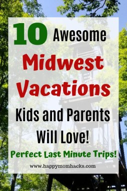 10 Cool Midwest Weekend Getaways with kids. Find great road trips for Midwest Vacations the whole family will love. Easy travel destinations from Chicago where you'll find family adventures in great museums, sandy beaches and beautiful hikes. Click to find out where these awesome destinations are! #midwest, #familytravel, #traveltips, #vacationideas
