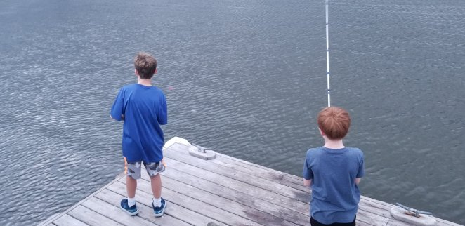 Fishing on Topsail Island Is a fun thing to do for families.