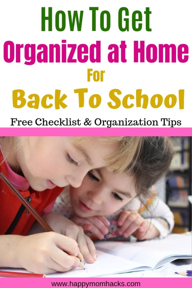 How be Organized for school & home. Tips for Kids, students and moms. Back to school organization tips to have your days be stress free. Free printable morning checklists, quick after school snacks and family dinners. Easy chores and everything else to organize your families afternoons.  #organization #organizationaltips #familytips #kids #backtoschool #backtoschoolorganization