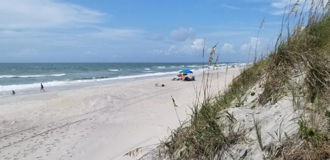 Top Things to Do in Topsail island is going to the beautiful uncrowded beaches of Topsail Island NC. Enjoy swimming in the Atlantic, surfing, building sand castles and sunbathing.