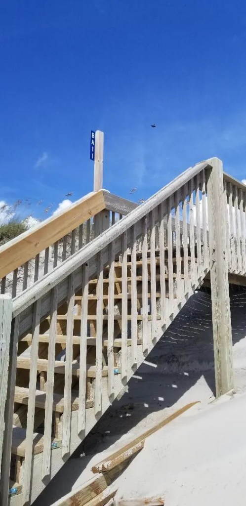 Topsail Island NC tip make sure to look at the beach access number on the stairs if you take a walk. Don't get lost.
