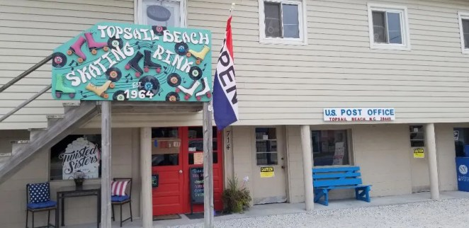 A fun activity to do on Topsail Island with the kids is roller skating at the Topsail Beach Roller Rink.