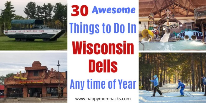 30 Things To Do in Wisconsin Dell with Kids. Find out the best attractions to visit in winter and summer months. Tips on the best waterpark resorts to visit, downtown Dells and activities the whole family will love. Be ready for your Wisconsin Dells Vacation. #wisconsindells #winter #summer #wisconsindellsattractions #thingstodowisconsindells #kids
