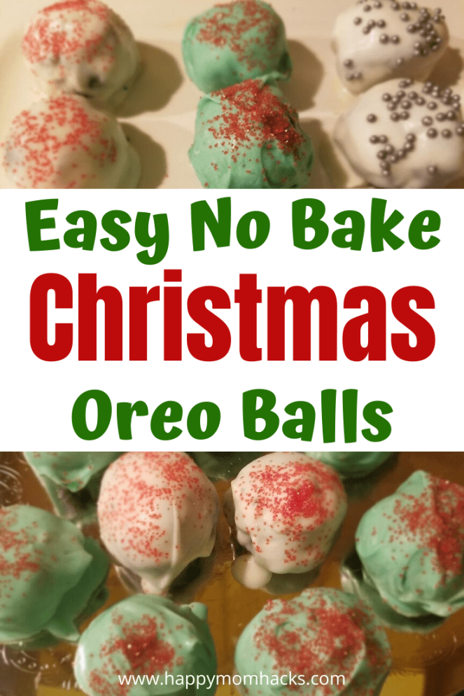 Christmas Oreo Balls Recipe - Perfect for a cookie exchange or party desserts. All you need is 3 ingredients to make this easy and delicious dessert. #oreoballs #cakepops #christmas #christmasdesserts #dessert #dessertfoodrecipes