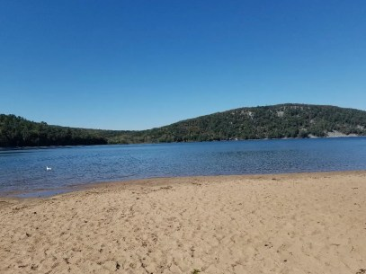Beach area at Devils Lake State Park WI