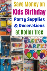 Dollar Tree Birthday Party Decorations & Ideas for Kids. Get fun birthday themes & supplies with Dollar Tree products. Find out what you should be buying at Dollar Tree to save money on your child's Birthday Party. #dollartree #dollarstore #kidsbirthday #birthdayparty #birthdaydecorations #partysupplies #birthdayideas