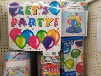 Best Birthday Party Decorations & signs from Dollar Tree. #birthday #partysupplies #partydecorations #birthdayparties #partiesforkids