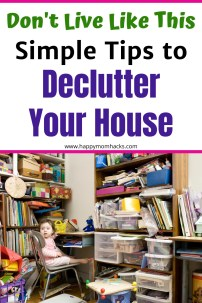 Easy Tips to Declutter your Home. Organization Ideas and simple steps to keep you from feeling overwhelmed. It's easier than you think and you'll feel great after your done!  #declutter #organization #organized #declutteryourhome #organizationtips #householdtips