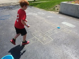 Hopscotch in Sidewalk Chalk for Kids