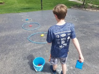 Chalk Games with Targets