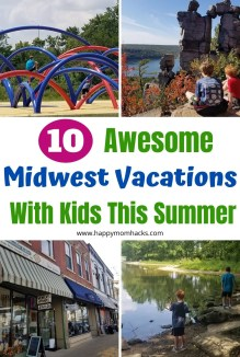 Best Midwest Vacations for Kids on summer vacations or weekend getaways. Fun Midwest travel ideas for families only a short drive from Chicago. Find beaches, National Parks, Museums, zoos and more cool things to do with kids. #midwestvacations #midwestweekendgetaways #familyvacation #travelwithkids #midwestdestinations
