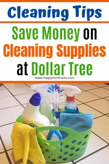 Household Cleaning Tips with Best Cleaning Supplies from Dollar Tree. Find out which cleaning supplies you should be buying from Dollar Tree. Save money with supplies that will get your house sparkling clean. #dollartree #cleaningtips #cleaninghacks #cleaningsupplies