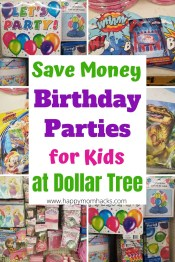 Cheap Birthday Party Ideas for Kids - Decoration & Supplies from Dollar Tree. Find out how to save money on kids birthday parties and still make it look great. Tons of birthday themes and ideas to make an unforgettable birthday party. #birthdayparty #birthdaypartydecorations #birthdaypartysupplies #dollartree #savemoney