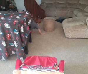 Fun Indoor Obstacle Course for Kids. A boredom busting activity for kids when you have to stay at home.