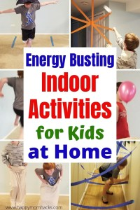 Energy Busting Indoor Activities for Kids at Home.