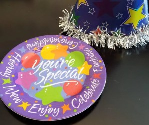 Birthday Plates are a fun Birthday tradition for kids.