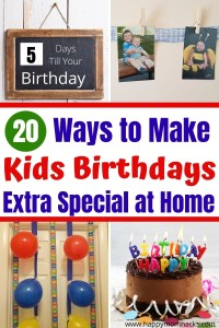 Make Birthdays at Home Special with fun family traditions. Meaningful ways to celebrate your child's birthday without a party. You kids will love these new traditions and look forward to them every year. Bonus there all super easy to do! #birthdayathome #kidsbirthday #familytraditions #birthdaytraditions #meaningfulbirthday