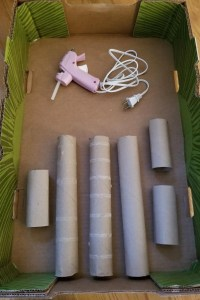 DIY Cardboard Marble Run Supplies to create your own run out of paper towels & toilet paper rolls. A fun STEM project for kids at home or school.