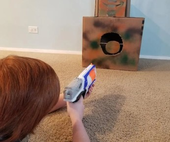 Cool DIY Spinning Nerf Targets for Kids. Learn how to make this easy Nerf targets out of Cardboard boxes. Your kids will love it!.