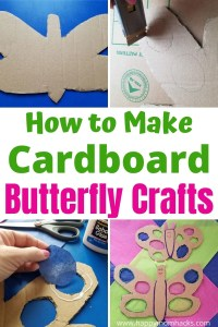 How to Make Cardboard Butterfly Crafts for Kids. A fun art project with recycled cardboard and tissue paper. Kids will love holding their butterflies to the window like a piece of stained glass. These turn out pretty cool!