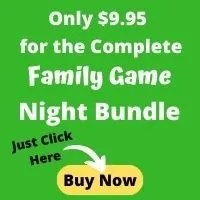 Printable Family Game Night Planner for a fun game night with kids.
