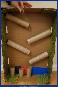 Fun Marble Run Cardboard Toys for Kids. Make this easy STEM experiment at home with cardboard boxes and cardboard tubes. Use these simple Marble Run instructions and let your kids start playing today!