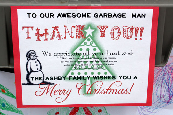 Happy Thoughts Thanking The Garbage Man Happy Money Saver