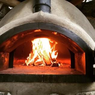 wood-fired cob oven