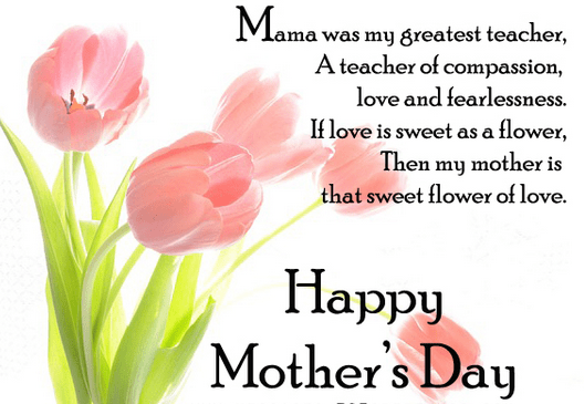 mother's day message to MOM