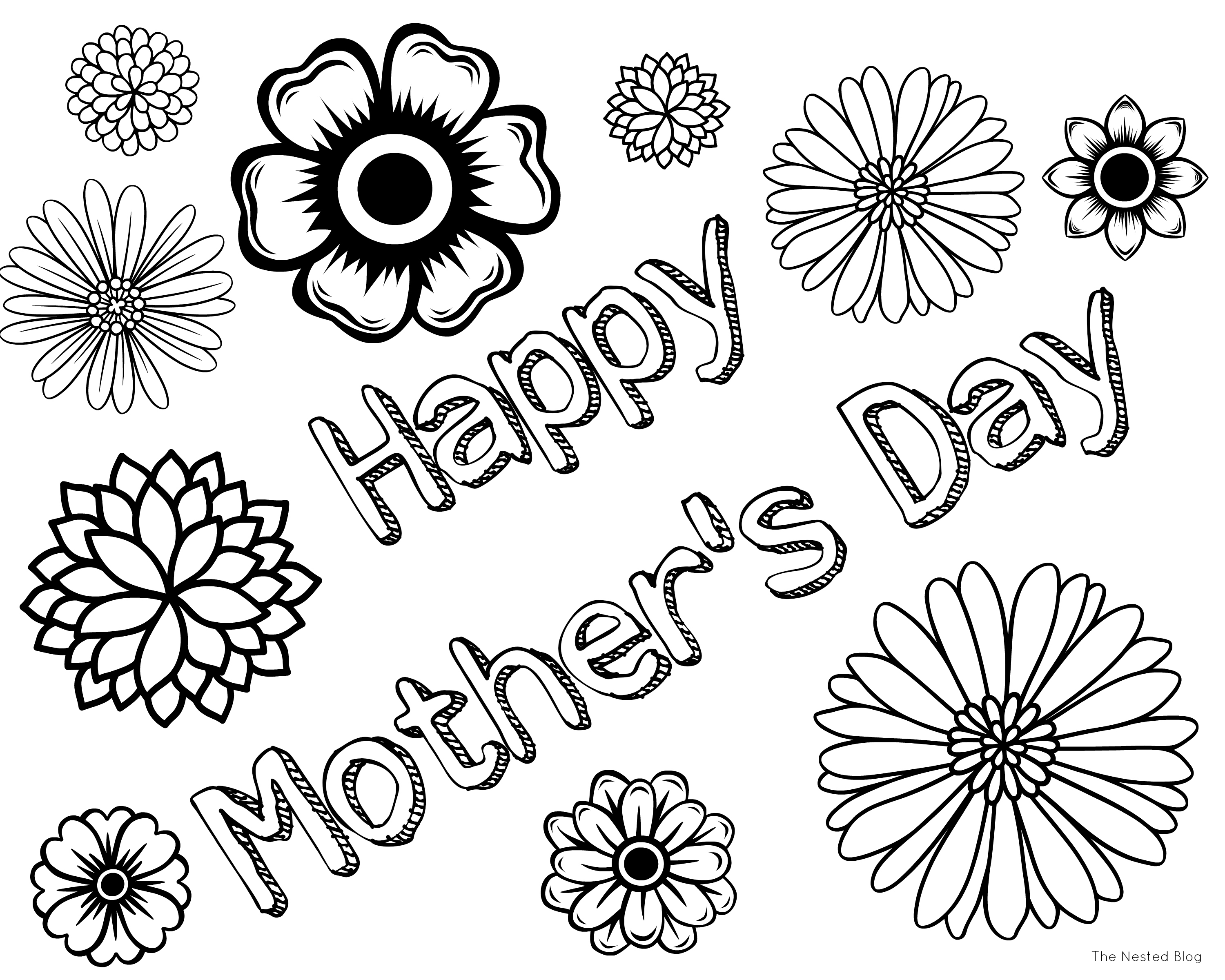 - Happy Mothers Day Coloring Pages 2020 – Free Printable Mothers Day