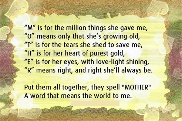 Mothers day saying