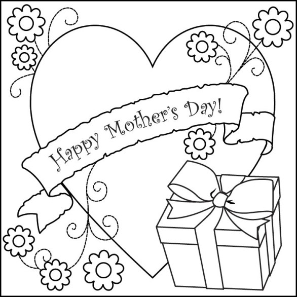 Mothers Day Coloring Pages Printable Mothers Day Coloring Pages Cards Christmas Day Wishes