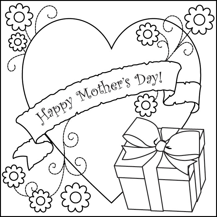 picture regarding Mothers Day Coloring Pages Printable named Joyful Moms Working day Coloring Internet pages 2019 Free of charge Printable