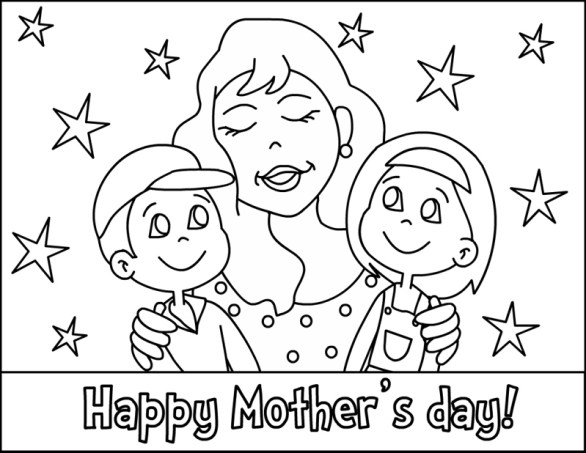 mother day coloring pages for kids