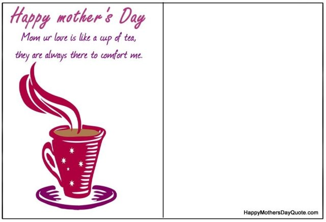 best mothers day greeting card images to print for kids