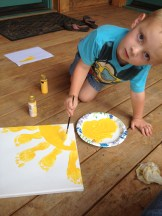 My boy painting