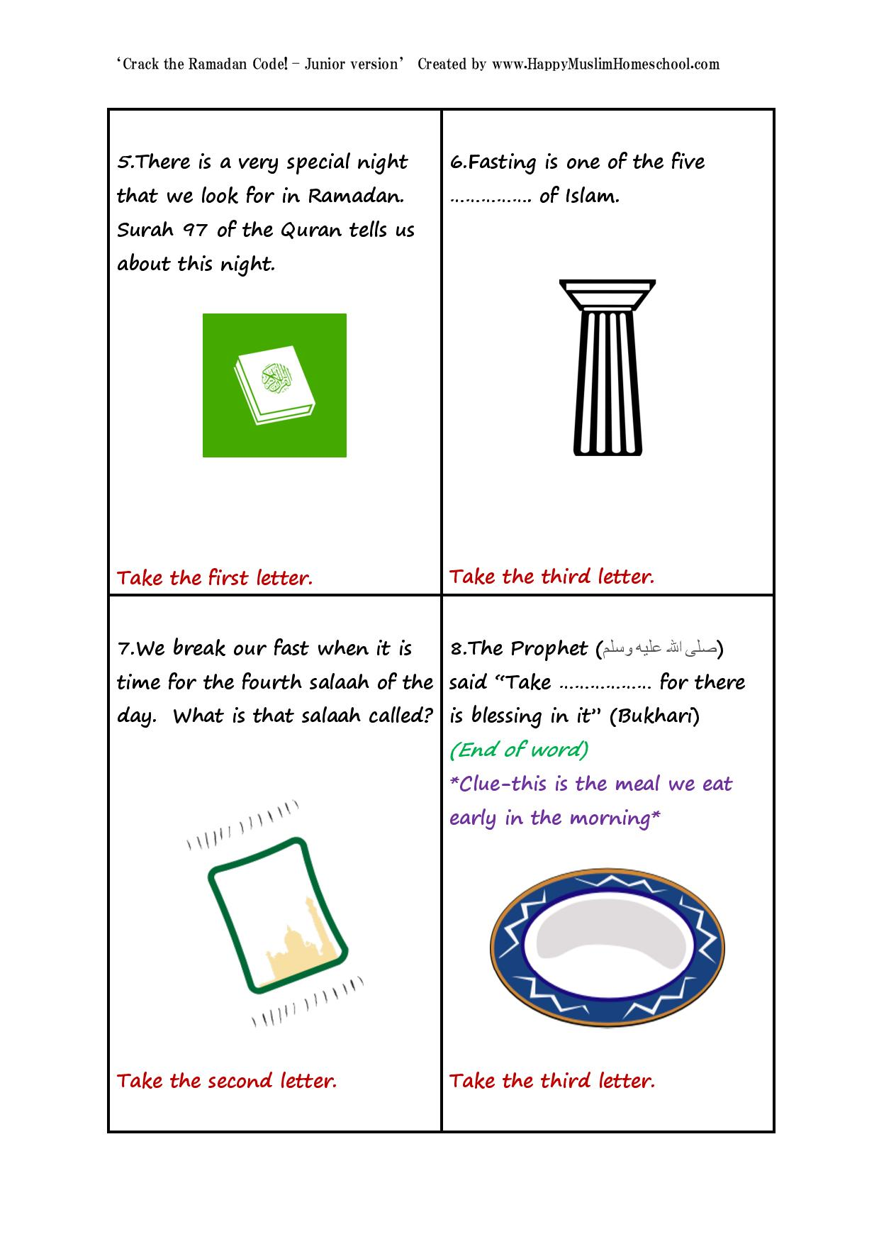 Crack The Ramadan Code Junior Edition