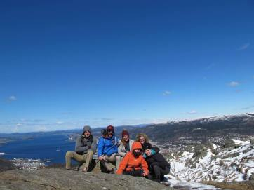 The gang at the top of Løvstakken