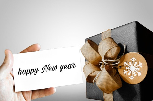 Happy New Year Gift Card Wallpaper
