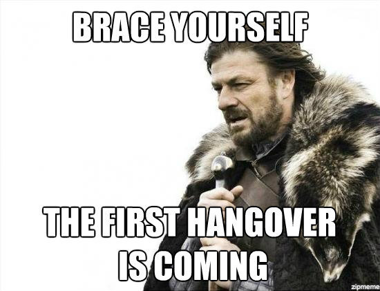 Brace Yourself Hangover New Year Meme
