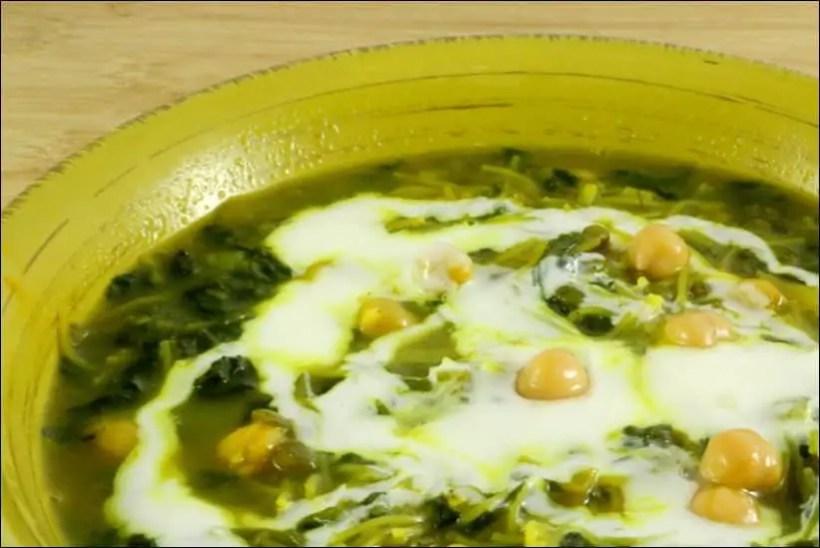 soupe epinard frais