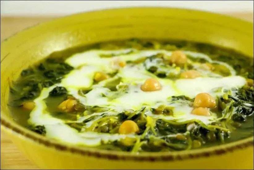 Ashe resteh soupe iranienne aux épinards